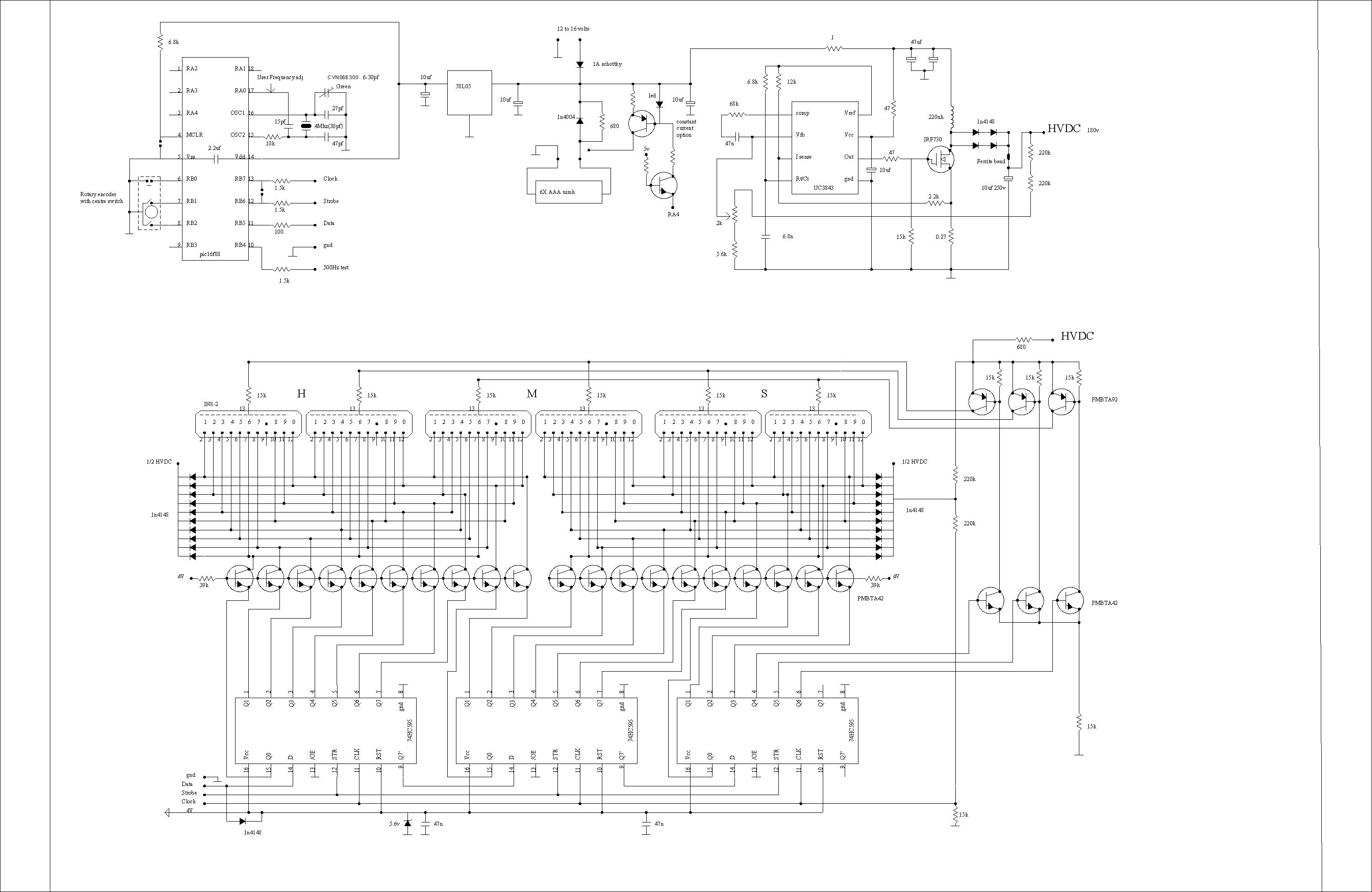Russian 74141s And Non Exclusive Multiplexing Nixie Tube Schematic Page 1 I Use Constant Current Drive To The Anode Transistors In My Clock Although Npn Is Still Positive Logic